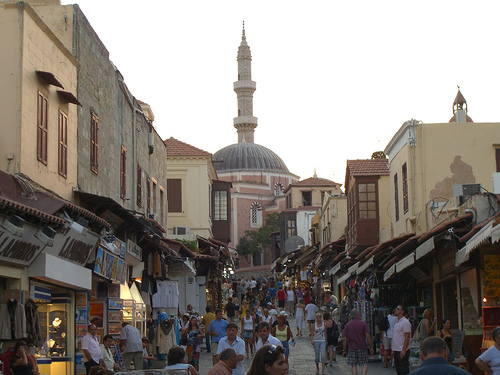 Rhodes Old Town Shops